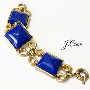 J. Crew Blue Scroll Statement Bracelet